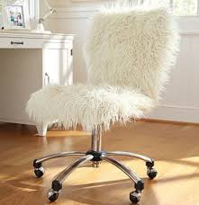 diy it throw a fuzzy white blanket over your chair white fuzzy fluffy rolling chair