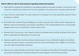 workplace impacts of marijuana legalization independent current law in the private sector generally allows non union companies to require applicants and or employees to take drug tests