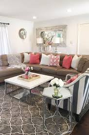 Perfect home decor ideas with colorful variation Wood You Can Easily Add Brightness To Brown Couch By Decorating With Colorful Pillows Like These Pink And White Pillows Shutterfly 50 Simple Living Room Ideas For 2019 Shutterfly