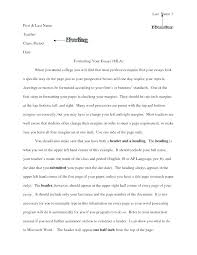 College Essay Format Mla College Essay Format Formal Essay Format