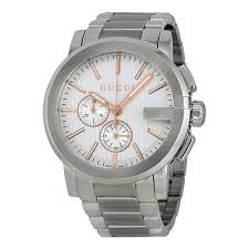 gucci 8600m. gucci g-chrono chronograph silver dial men\u0027s watch ya101201 8600m