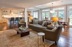 Open Plan Kitchen Dining Living Room Modern Home Design