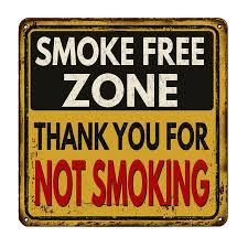 Smoke Free Zone.Thank You For <b>Not Smoking Vintage</b> Rusty <b>Metal</b> ...
