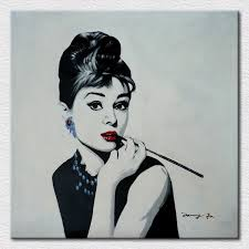 moder decor art canvas printed painting of beautiful lady audrey hepburn picture from breakfast at on audrey hepburn breakfast at tiffanys wall art with moder decor art canvas printed painting of beautiful lady audrey