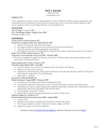 Social Work Resume Examples Resumes 17 For Workers Professional