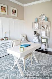 grays office. Beautiful Home Office Using Furniture From IKEA \u0026 Cost Plus, Grays And Blues
