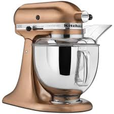 kitchenaid custom metallic 5 qt satin copper stand mixer