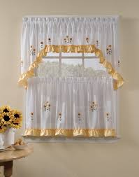 Blinds For Kitchen Windows Kitchen Window Curtain Ideas Beige Striped Fabric Windows Blinds