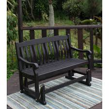 better homes gardens delahey outdoor glider bench dark brown com
