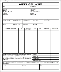 Commercial Invoice Commercial Invoice Format In Word Chakrii