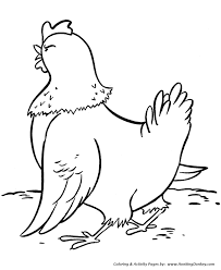 Small Picture Farm Animal Coloring Pages Angry mother hen Chickens Coloring