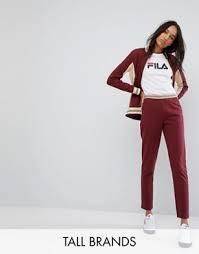 fila apparel women s. fila tall jogger with logo detail and contrast waistband apparel women s g