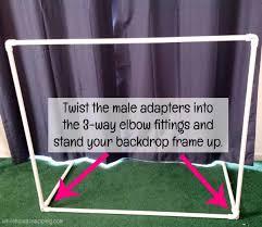 diy photo backdrop assembly step 3