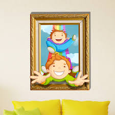 3d baby kids room cartoon children playing funny wall decals removable paper stickers art diy