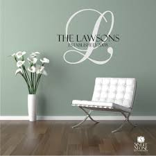 zoom on wall art decals with family monogram wall decal vinyl wedding stickers art custom