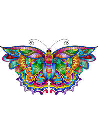 Butterfly Coloring Page For Calm Relaxation And Stress Relief