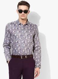 Indigo Nation Size Chart Indigo Nation Multi Printed Slim Fit Formal Shirt