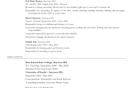 Resume For Child Care Entertainment Agent Sample Resume Sample