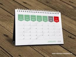 desk planner calendar template 2018