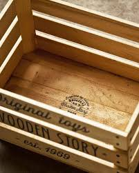 wooden story wooden storage crate on wheels without sack toy storage boxes