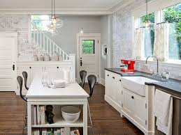 rustic kitchen pendant lighting fixtures white brick stone wall theme sink picture ceiling lights over decor hanging lamps with light glass globe western
