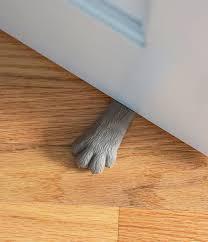 5 cat paw doorstop