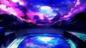 pool water at night. Tasogare Otome X Amnesia-04-colors-night Sky-swimming Pool -school-beautiful-gorgeous-yuuko.jpg Water At Night F
