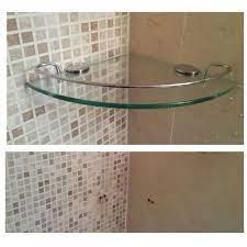 Wall Mount Tempered Glass Corner Shelf Bathroom Shower Shelf Rack Storage Bath For Sale Online