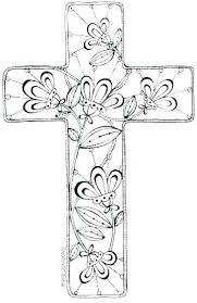 Printable Easter Cross Coloring Pages Page Free To Print Download