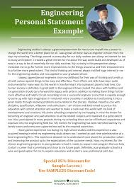 Personal Statement Grad School Samples Writing Personal Statement For Engineering Graduate School