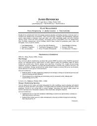 Production Manager Resumes Manufacturing Plant Manager Resume Sample Pdf