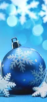 Christmas Phone Wallpaper Blue