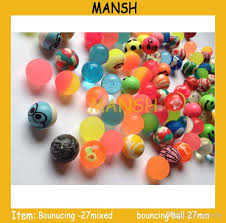 Helium Balloon Vending Machine New 48mm Mixed Colorful High Bouncy Bouncing Ball Promotional Toy For