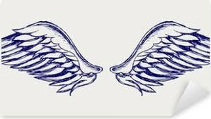 Andělská Křídla Doodle Stylu
