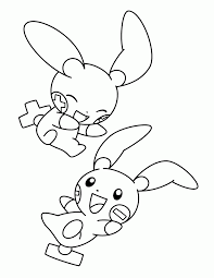Plusle And Minun Pokemon Coloring Page Tory Lund Pokémon Wiki
