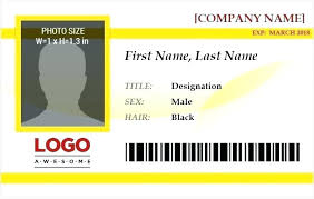 Personal Identification Card Template Free Id Card Template