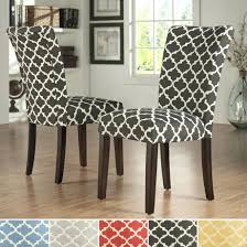 ... Inspire Q Pattern Fabric Parsons Dining Chair Set Of 2 Upholstery Cost  Singapore Cleaning Room Chairs ...