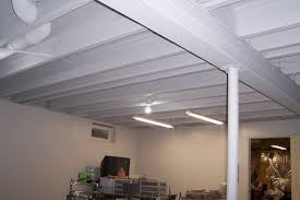 painted basement ceiling ideas. How To Paint A Basement Ceiling With Exposed Joists For An Intended Painted White Idea 14 Ideas