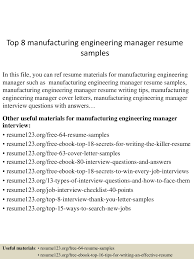 Top8manufacturingengineeringmanagerresumesamples 150514055340 Lva1 App6892 Thumbnail 4 Jpg Cb 1431582864