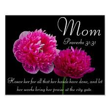 Bible Quotes About Mothers Adorable Dahlia Mother's Day Bible Verse Proverbs 48 Poster Decor For The