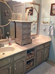Painted Bathroom Cabinets Bathroom Vanity Makeover With Annie Sloan Chalk Paint