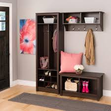 Cubby Bench And Coat Rack Set Attractive Hallway Organizer with Hooks Using Small Foyer Closet for 93