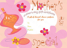 Five Petals Mothers Day Gift Certificate Template Beautiful