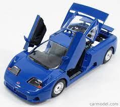 Затова съм махнал стикерите на логата. Burago Bu22025bl Scale 1 24 Bugatti Eb110 1991 Bluette