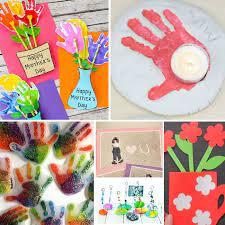 Love the handprint, footprint, egg carton and flower craft ideas! The Sweetest Diy Homemade Mother S Day Gifts Preschool Inspirations