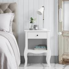 bedside table accessories. Simple Accessories Camille Bedside Table In White With Accessories S