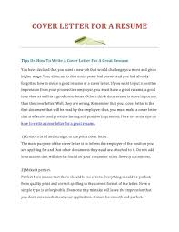 Making A Cover Letter For Resume How To Make Online Good Vozmitut