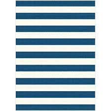 indoor outdoor rug 8 x large navy blue stripe garden city home 10 blue outdoor rug