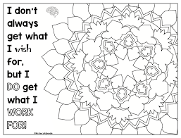 Growth Mindset Coloring Pages Affirmations For Upper Grades