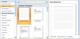 Templates In Word 2007 Creating A Document Using A Template Template Editing